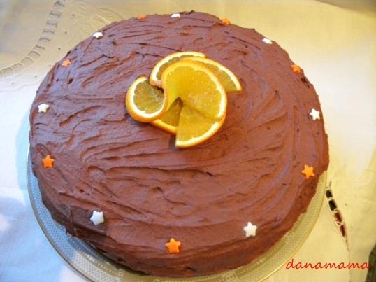 tort cioco cu portocale 2