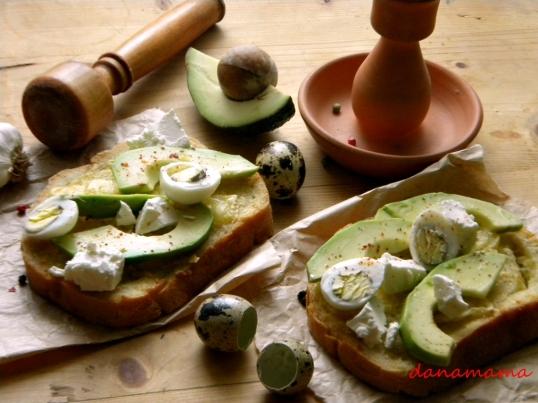 sendvis cu avocado